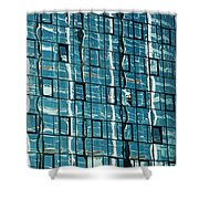 Abstract Reflections In Windows Shower Curtain