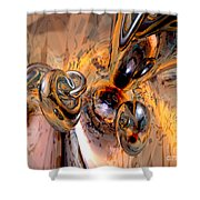 Abstract Ring Connections Shower Curtain