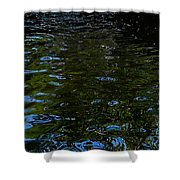 Abstract Ripples Shower Curtain