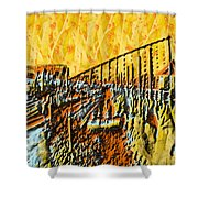 Abstract Roller Coaster Shower Curtain