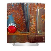Abstract Rust Shower Curtain