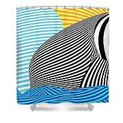 Abstract - Sailing Shower Curtain