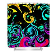 Abstract Series 5 Number 1 Shower Curtain