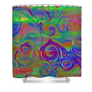 Abstract Series 5 Number 3 Shower Curtain