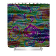 Abstract Series 5 Number 4 Shower Curtain