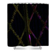Abstract Series Xxx Shower Curtain