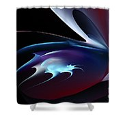 Abstract Shape Shower Curtain