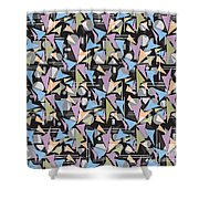 Abstract Shapes Collage Shower Curtain