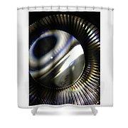 Abstract Shiny Shower Curtain
