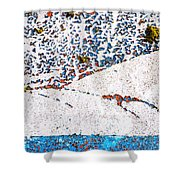 Abstract Snow Storm Shower Curtain