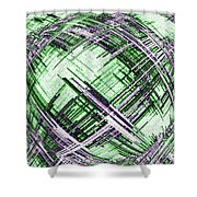 Abstract Spherical Design Shower Curtain