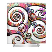 Abstract - Spirals - Wonderland Shower Curtain
