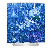 Abstract Splashing Water Shower Curtain