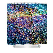 Abstract Stone Shower Curtain