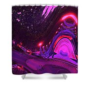Abstract Street Scene Shower Curtain