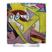 Abstract Study 1985 Shower Curtain