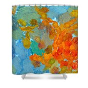Abstract Summer #2 Shower Curtain by Pixel Chimp