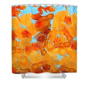 Abstract Summer Shower Curtain by Pixel Chimp