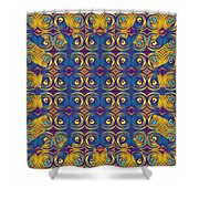 Abstract Sun Rays And Rings Shower Curtain