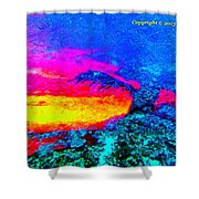 Abstract Sunset As A Painting Shower Curtain