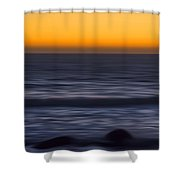Pacific Abstract Sunset Shower Curtain