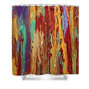 Abstract Sunset Over Tuscany  Shower Curtain