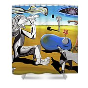 Abstract Surrealism Shower Curtain