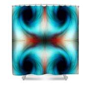Abstract Swirls Shower Curtain