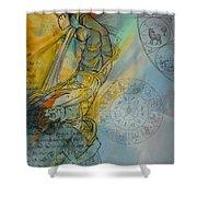 Abstract Tarot Art 015 Shower Curtain
