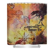 Abstract Tarot Art 023 Shower Curtain