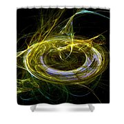 Abstract - The Ring Shower Curtain
