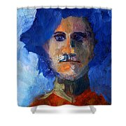 Abstract Thinking Man Portrait Shower Curtain