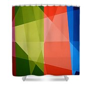 Abstract Transparency Shower Curtain