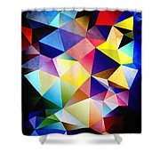 Abstract Triangles And Texture Shower Curtain