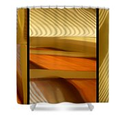 Abstract Triptych - Omaha Library Building Shower Curtain