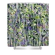 Abstract Umbrellas In Rain Shower Curtain