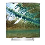 Abstract Underwater 2 Shower Curtain
