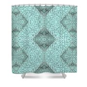 Abstract Urban City In Knot Boxes From Cube 01 Shower Curtain