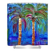 Abstract Venice Palms Shower Curtain