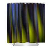 Abstract Vertical Red Yellow Blue And Green Shower Curtain
