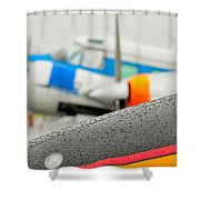 Abstract View Of Airshow During A Rain Storm Shower Curtain