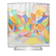Abstract Virgin Birth Shower Curtain