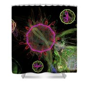Abstract Virus Budding 1 Shower Curtain