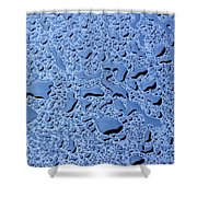 Abstract Water Drops Shower Curtain