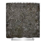 Abstract Water Spill Shower Curtain
