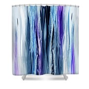 Abstract Waterfall Purple Flow Shower Curtain
