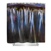 Abstract Waterfalls Childs National Park Painted  Shower Curtain