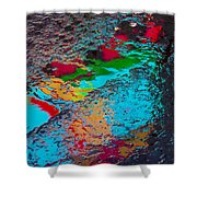 Abstract Wet Pavement Shower Curtain