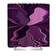Abstract Wings In Plum Shower Curtain