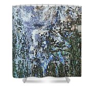 Abstract Winter Landscape Shower Curtain